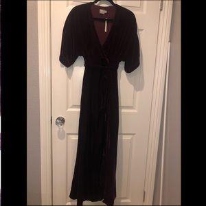 Asos velvet maxi dress